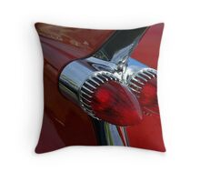 Classic Chrome & Lipstick Red Throw Pillow