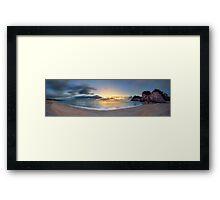 Whiritoa Dawn Gold Framed Print