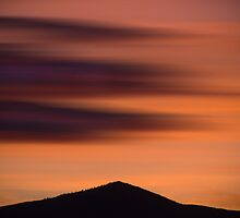 Sunset on the hill by Barbara  Corvino