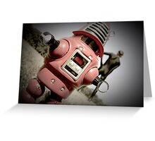 Retro Toy Robby Robot 04 Greeting Card