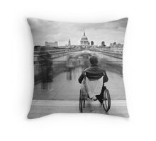 Invisible ..... Millennium Bridge, London Throw Pillow