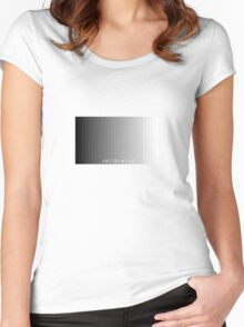 calibrated Women's Fitted Scoop T-Shirt