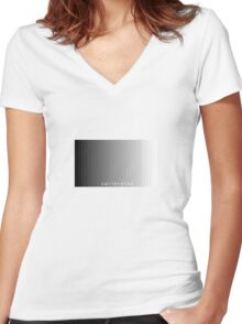 calibrated Women's Fitted V-Neck T-Shirt