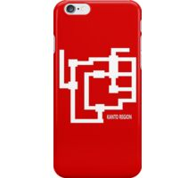 Kanto Region Map iPhone Case/Skin