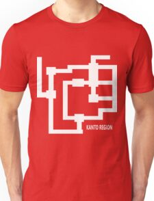 Kanto Region Map Unisex T-Shirt