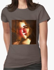 Conflicted Woman - A Cubist Inspired Portrait Womens Fitted T-Shirt