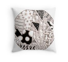 Doodles- stitched triangles Throw Pillow