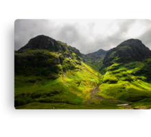 The Mountains of Glencoe Canvas Print