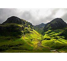 The Mountains of Glencoe Photographic Print