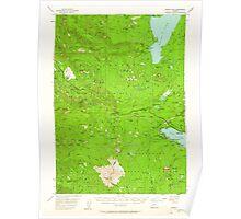 USGS Topo Map Oregon Waldo Lake 283001 1956 62500 Poster