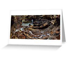 Whiritoa Blow Hole Cave Greeting Card