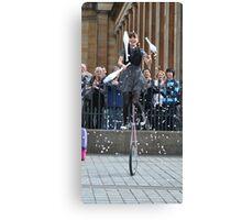 Juggling + a Uni-cycle? Canvas Print