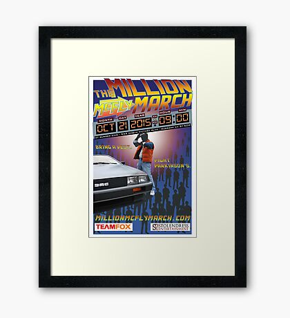 The Million McFly March Parkinson's Benefit Official Poster (Max Size 12 X 18) Framed Print