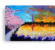 Washington at Sunset Canvas Print