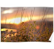 Sundown at Meteor Crater Poster