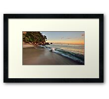 Waimama Bay Dawn Splash Framed Print