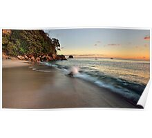 Waimama Bay Dawn Splash Poster