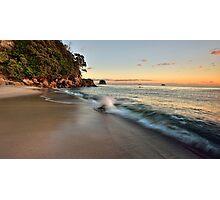 Waimama Bay Dawn Splash Photographic Print
