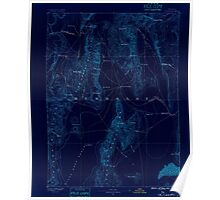 USGS Topo Map Nevada Disaster 321653 1886 250000 Inverted Poster