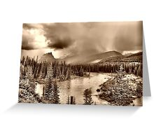 Bow River Along the Icefield Parkway Greeting Card