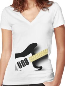 Air Guitar Women's Fitted V-Neck T-Shirt