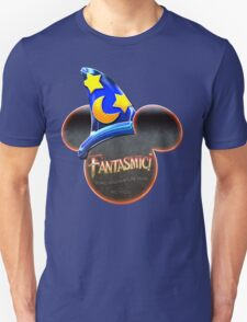 Fantasmic! - Metallic Mouse Ears, Hat, and Logo Design Unisex T-Shirt