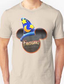 Fantasmic! - Metallic Mouse Ears, Hat, and Logo Design Unisex T-Shirt