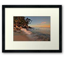 Whiritoa Dawn Rush Framed Print