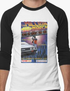 The Million McFly March Parkinson's Benefit Official Poster (Max Size 12 X 18) Men's Baseball ¾ T-Shirt