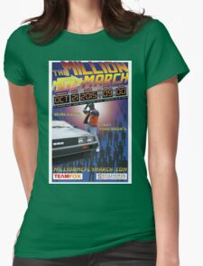 The Million McFly March Parkinson's Benefit Official Poster (Max Size 12 X 18) Womens Fitted T-Shirt