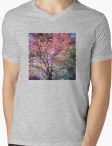 Spring Tree Scene Mens V-Neck T-Shirt