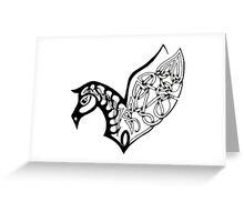 Pegasus- celtic/ tribal Greeting Card