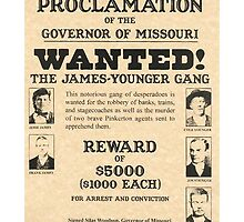 James Younger Gang Wanted by lawrencebaird