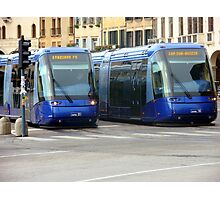 Blue Trams Photographic Print