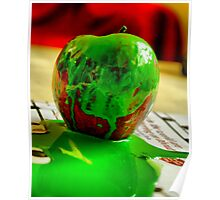 trashed apple Poster