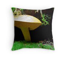 Mushroom up Close  Throw Pillow