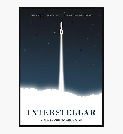 Interstellar film poster Photographic Print