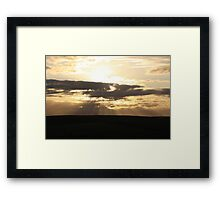 Sunrise in the middle of nowhere Framed Print