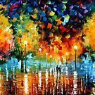 Storm of happiness  - original oil painting on canvas by Leonid Afremov by Leonid  Afremov