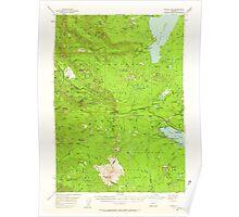 USGS Topo Map Oregon Waldo Lake 283002 1956 62500 Poster