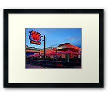 Cruisers Cafe, route 66, Williams AZ (in colour) Framed Print