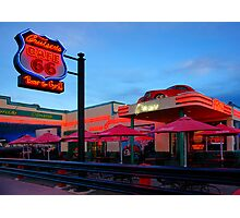 Cruisers Cafe, route 66, Williams AZ (in colour) Photographic Print