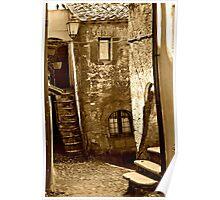 Calcata Cobblestone Lane-Calcata, Italy Poster