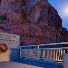 Moon rise over the Mike O'Callaghan - Pat Tillman memorial bridge by raceman