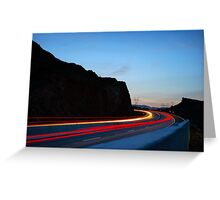 Light trails at Hoover Dam  Greeting Card