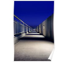 Stark and lonely, the Mike O'Callaghan – Pat Tillman Memorial bridge at night Poster