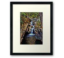 Texas Falls Vermont Framed Print