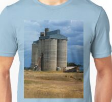 Silos on Western Plains   Qld Australia Unisex T-Shirt