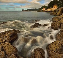 Waimama Bay Rocks by Ken Wright