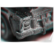 Anaglyph Hot Wheels 1 Poster